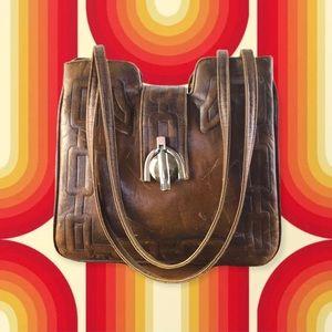 70's Vintage Lou Taylor Leather Purse